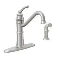 Wetherly Spot Resist Stainless One-Handle High Arc Kitchen Faucet