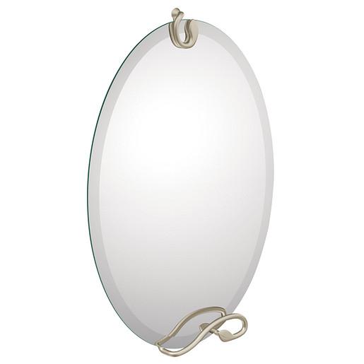 Organic Brushed nickel mirror