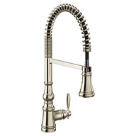 Weymouth Polished Nickel Kitchen Faucet