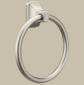 Donner Contemporary Brushed Nickel Towel Ring