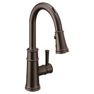 U by Moen Smart Faucet Oil Rubbed Bronze One-Handle Pulldown Kitchen Faucet in Belfield