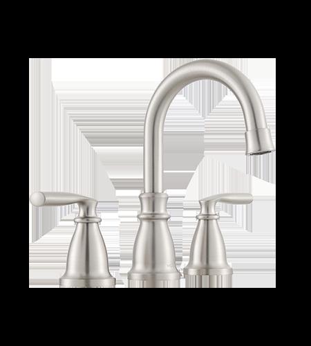 5oclock Hilliard Spot Resist Brushed Nickel Two-Handle High Arc Bathroom Faucet