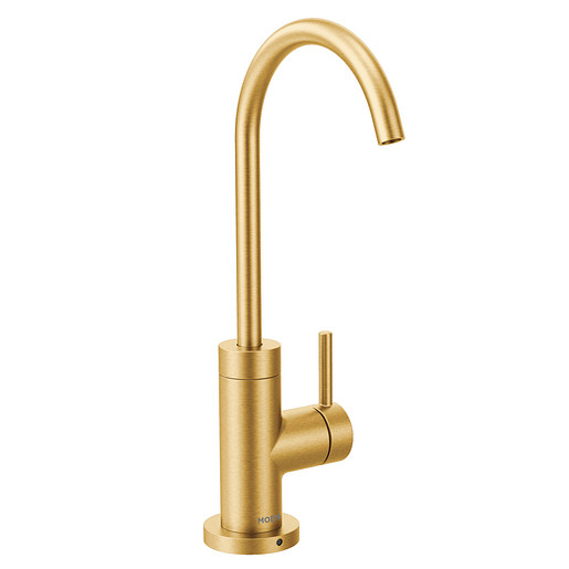 Sip Modern Brushed gold One-Handle High Arc Beverage Faucet