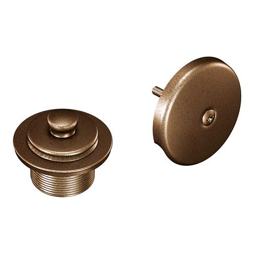 "Moen Antique Bronze Push-N-Lock Tub Drain Kit with 1-1/2"" Threads"