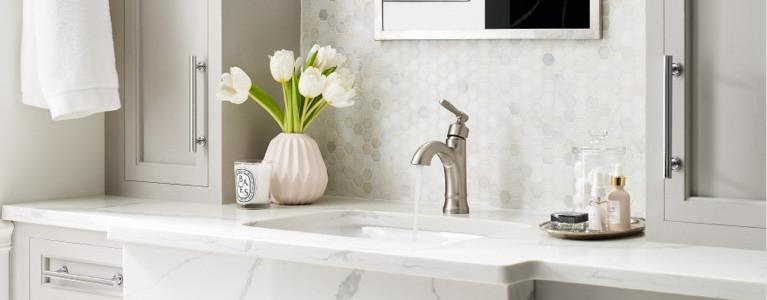 beige sink design