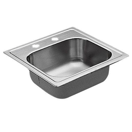 """Commercial 15""""x15"""" stainless steel 20 gauge single bowl sink"""