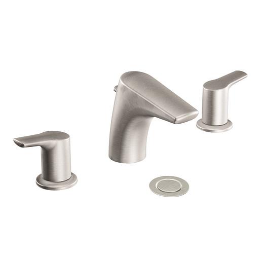 Method Brushed Nickel Two-Handle Low Arc Bathroom Faucet