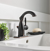 Sarona One-Handle High Arc Bathroom Faucet In Mediterranean Bronze