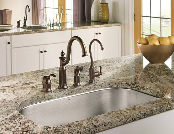 Waterhill Oil Rubbed Bronze One Handle High Arc Kitchen Faucet