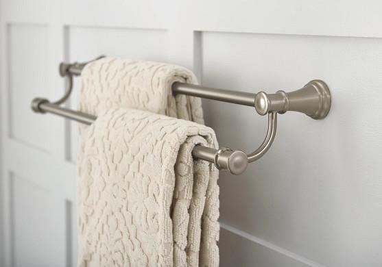 Belfield Brushed Nickel Double Towel Bar