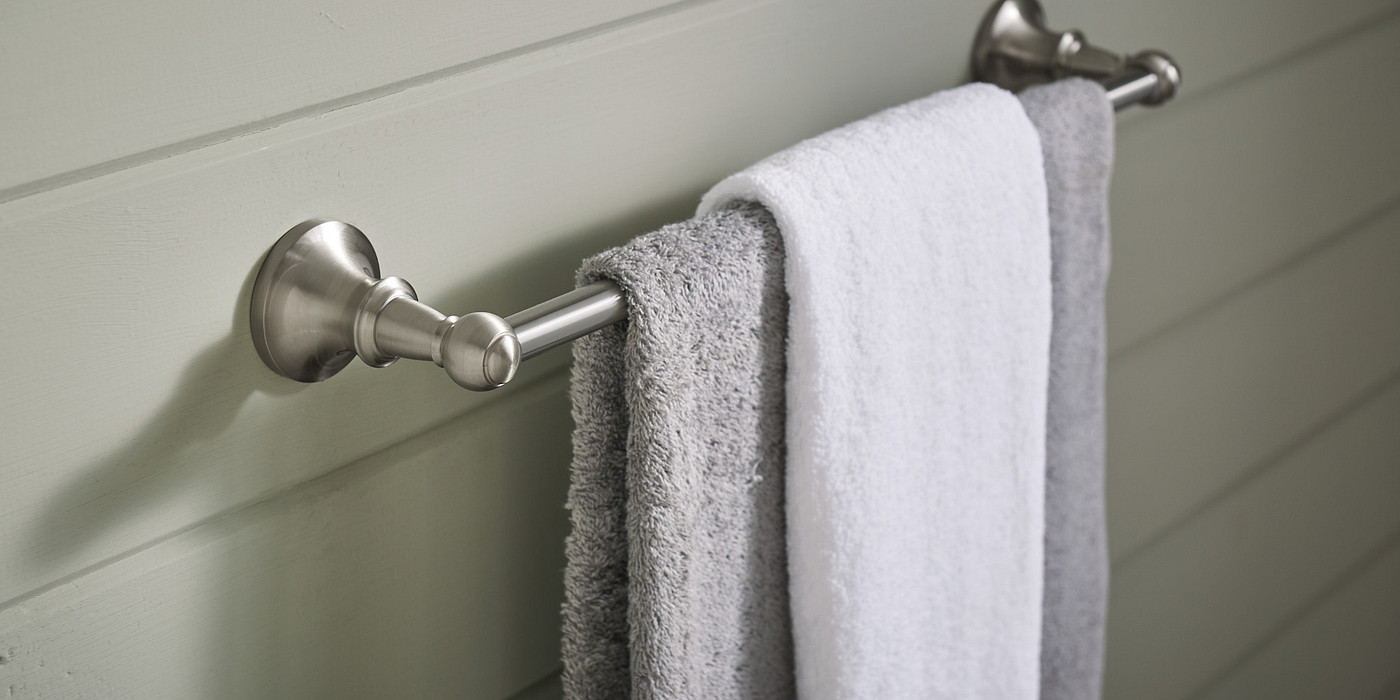Chrome Bath Towel Shelf Hardware