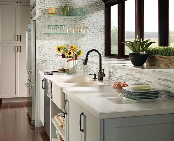 Bayhill Mediterranean Bronze One-Handle High Arc Pulldown Kitchen Faucet CA87094BRB