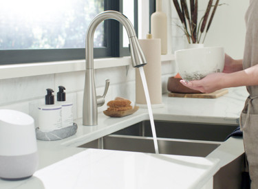 U by Moen Smart Faucet Water On