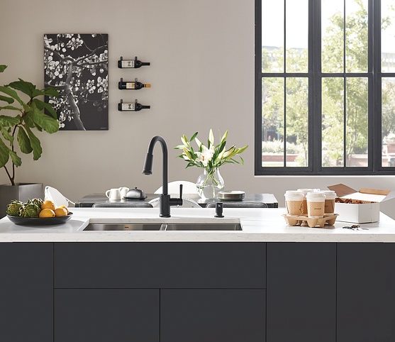 Matte Black 87090 Kitchen Faucet