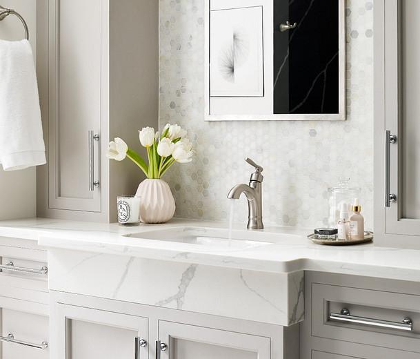8oclock Halle Spot Resist Brushed Nickel One-Handle High Arc Bathroom Faucet