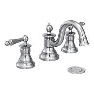 Waterhill Chrome Two-Handle High Arc Bathroom Faucet