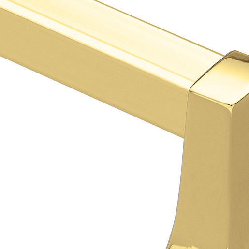 "Contemporary Polished brass 24"" towel bar"