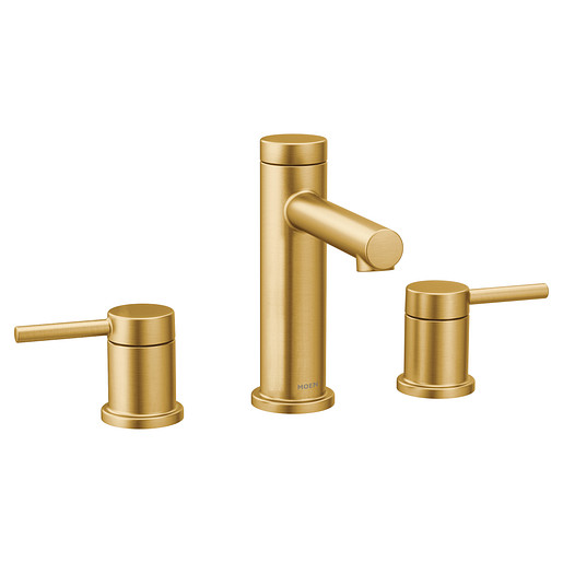 Align Brushed Gold Two-Handle High Arc Bathroom Faucet