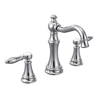 Weymouth Chrome Two-Handle High Arc Bathroom Faucet