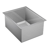 "1600 Series Stainless steel 16"" X 20"" 16 Gauge Single Bowl Sink Center Drain"