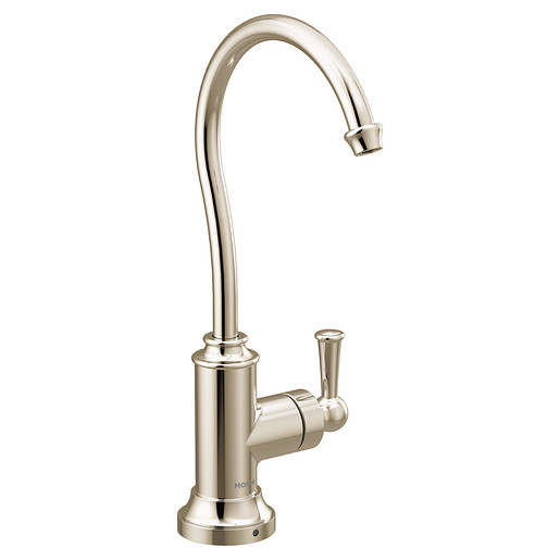 Sip Traditional Polished nickel one-handle high arc beverage faucet