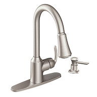 Bayhill Spot Resist Stainless One-Handle High Arc Pulldown Kitchen Faucet