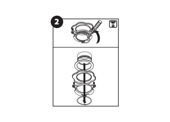 How to install a garbage disposal loosen screws