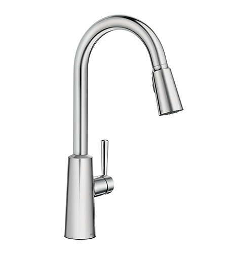 5oclock Riley Chrome High Arc Pulldown Kitchen Faucet