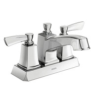Conway Chrome Two-Handle Low Arc Bathroom Faucet