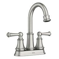 Brecklyn Spot Resist Brushed Nickel Two-Handle High Arc Bathroom Faucet