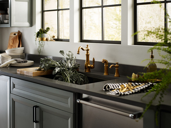 Select a traditional faucet for your kitchen or bathroom