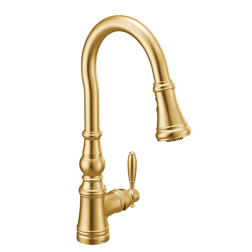 Weymouth Brushed Gold Kitchen Faucet