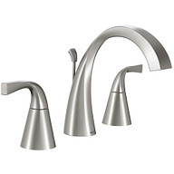 Oxby Spot Resist Brushed Nickel Two-Handle High Arc Bathroom Faucet
