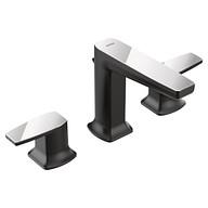 Via Matte Black/Chrome Two-Handle Bathroom Faucet