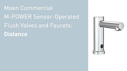 Moen Commercial M-POWER Sensor Operated Distance Video