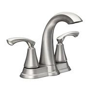 Tiffin Spot Resist Brushed Nickel Two-Handle High Arc Bathroom Faucet