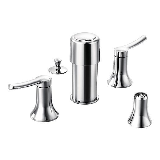 Fina Chrome two-handle bidet faucet