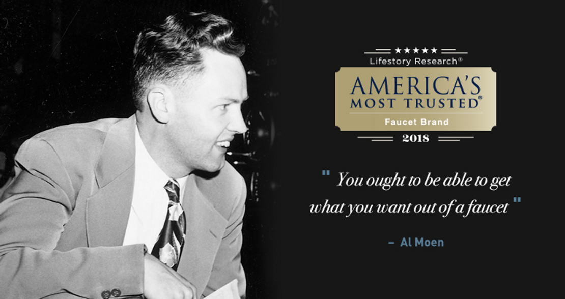 Al Moen America's Most Trusted Faucet Brand 2018