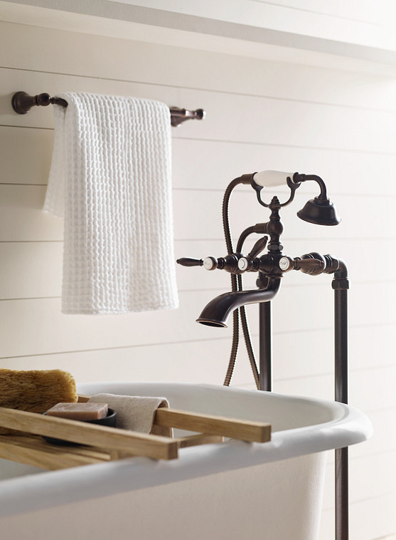 Weymouth Oil Rubbed Bronze Two-Handle Tub Filler