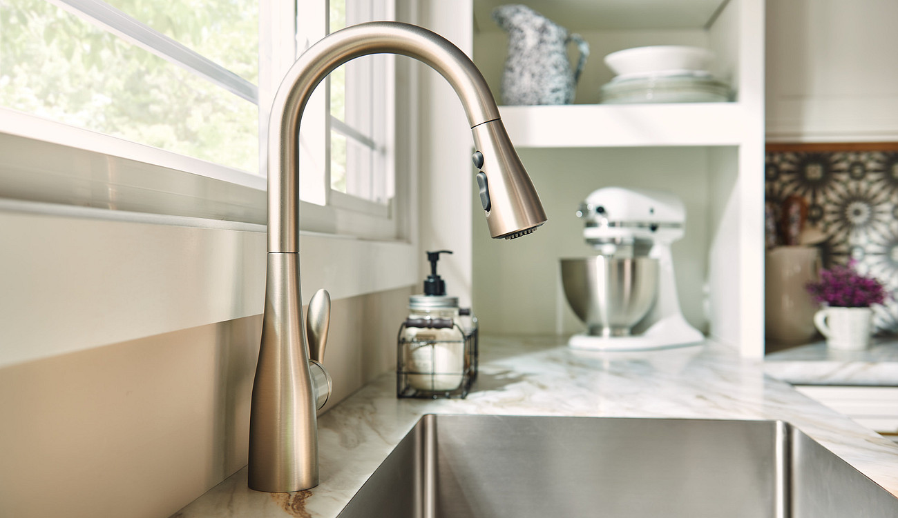 Transitional Kitchen Faucets Room