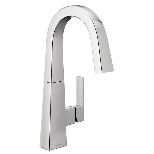 Nio Chrome One-Handle High Arc Bar Faucet