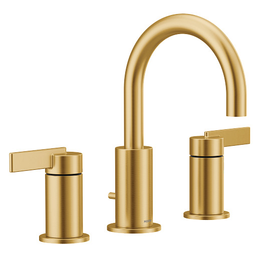Cia Brushed gold two-handle bathroom faucet