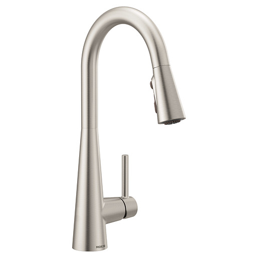 Sleek Spot Resist Stainless One-Handle High Arc Pulldown Kitchen Faucet