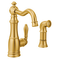 Weymouth Brushed Gold One-Handle High Arc Kitchen Faucet