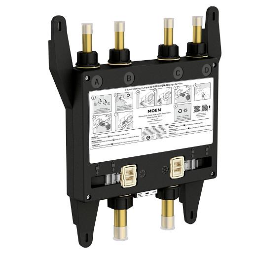 U by Moen Shower 4 Outlet Thermostatic Digital Shower Valve