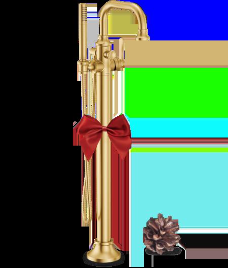 Moen Colinet Brushed Gold One-Handle Tub Filler Includes Hand Shower