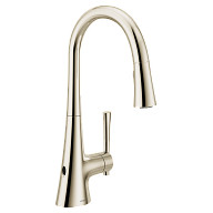Kurv Polished nickel one-handle high arc pulldown kitchen faucet