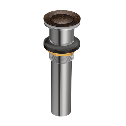 Moen Oil Rubbed Bronze Spring Loaded Push Button Bathroom Drain Assembly (with overflow)