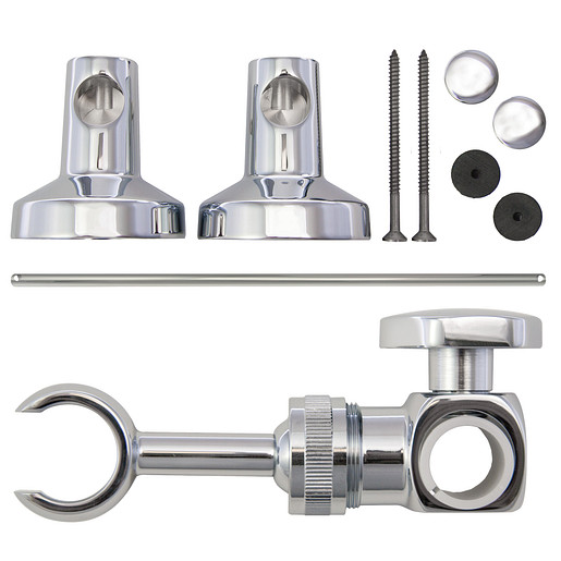"""Commercial Moen Chrome Adjustable 30"""" Slide Bar With Attaching Hardware 1 (30.1""""L x 4.25""""W x 3.25""""H)"""