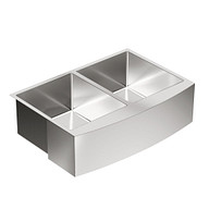 """1800 Series Stainless steel 29 15/16"""" X 20 5/8"""" 18 Gauge Double Bowl Sink Center Drain"""